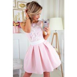 fa9fb56238c Plesové šaty Dámské krátké koktejlky růžová