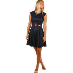 0ec9087abd6 Retro šaty s puntíky 231508 tmavě modrá dámské šaty - Nejlepší Ceny.cz