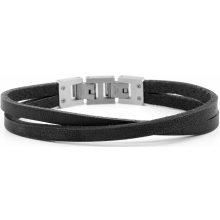 Lucleon náramek Black & Steel Roy Single Wrap MP_bracelet230
