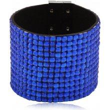 Shine bižuterní třpytivý barevný náramek modrý TN025