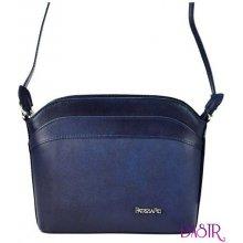 6d1f5b14e2 malá kožená dámská crossbody kabelka modrá