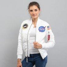 Alpha Industries WMNS MA 1 VF NASA bílá