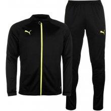 Puma Essential Track Suit Mens Black/Yellow