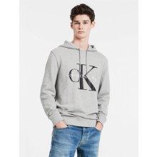 Calvin Klein pánské mikina Logo Hoodie 41QK962 šedá