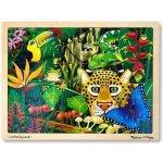 Melissa & Doug dřevěné puzzle deštný prales