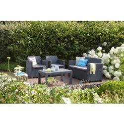 Zahradní sestava Balkonový set ATLANTA antracit+grey