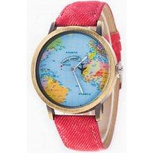 Altro s mapou světa červené