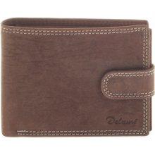Pánská kožená hnědá peněženka Delami 8945 hnědá