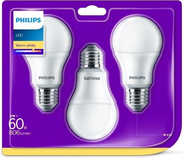 Recenze Philips klasik, 9W, E27, teplá bílá 3ks