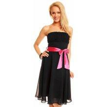 Mayaadi Deluxe dámské společenské šaty 181 korzetové s mašlí a šifonovou  sukní černá f4a5bd48aa
