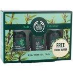 The Body Shop Tea Tree unisex Tea Tree Oil 3 x 10 ml + čisticí houbička dárková sada