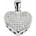 Beneto Přívěsek srdce ze stříbra AGH22