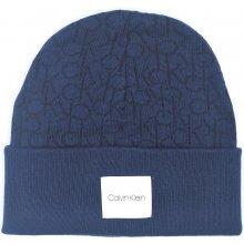 Calvin Klein tmavě modrá čepice s logem CK Knitted Beanie 57ceb91b6a