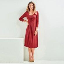 17ed8604f585 Blancheporte úpletové šaty tmavě korálová
