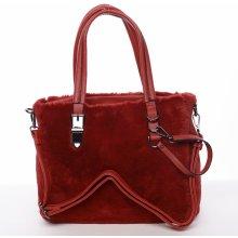 dámská kabelka Cleopatra s kožíškem červená 519839cd6fe