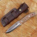 TBS Boar Bushcraft Survival Knife - N695 Stainless Steel & Natural Micarta K720 High Carbon Tool Steel - 4mm