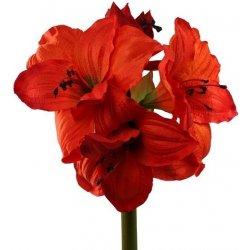 decoDoma LIVO Umělá květina Amarylis oranžová