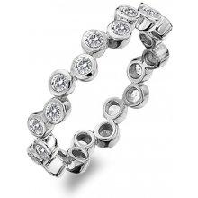 Hot Diamonds Luxusní stříbrný prsten s topazy Willow DR208 041838e065