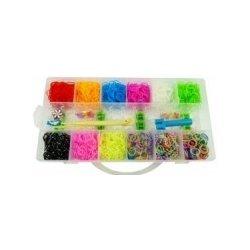 Set gumiček na výrobu náramků v krabičce 16 x 31 x 5