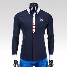 Ombre Clothing pánská košile Parks tmavě modrá
