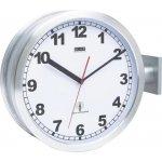 Oboustranné nádražní DCF hodiny 91764-47, 40 cm, hliník