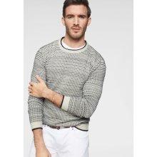 GUIDO MARIA KRETSCHMER Pletený pulovr, vlněná bílá-antracitová