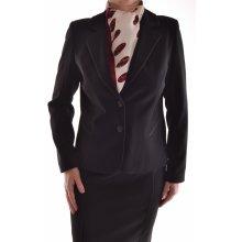 Dámský sukňový kostým s černým paspólem
