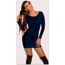 dlouhý rukáv · Koucla dámské svetrové mini šaty s krajkou 228246-5 tmavě  modrá 8d0f5fbcb8