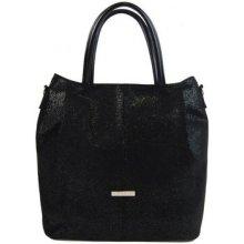 Grosso velká elegantní dámská shopper kabelka S737 černá třpytivá 10e33a90005