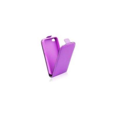 Pouzdro ForCell Slim Flip Flexi Samsung G357 Galaxy Ace 4 LTE fialové