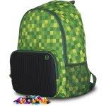 Pixie Crew batoh Kostka zelený/černý