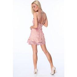 3bed514fb1a8 krajkové šaty růžové - Nejlepší Ceny.cz