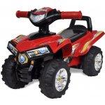VidaXL červená dětská jezdící čtyřkolka se zvukem a světlem
