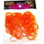 Loom bands Gumičky pro pletení náramků 200 ks oranžová