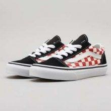 Vans Old Skool checkerboard black   red 85e790e259