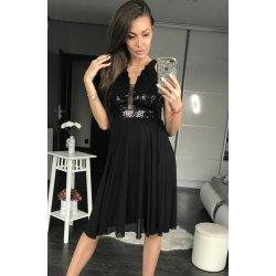 Dámské společenské flitrové šaty středné dlouhé černá od 1 619 Kč ... f4e04f3d010