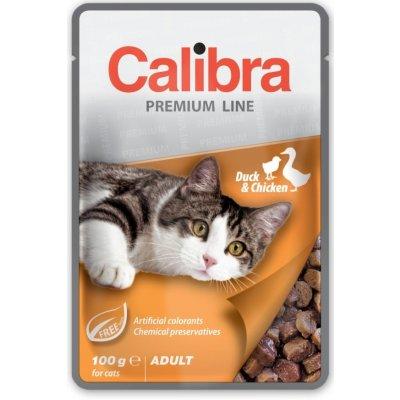 Calibra Cat kachní & kuřecí v omáčce 100 g