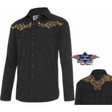 fd12efc3fb9 Stars and Stripes Pánská westernová košile Durango Black