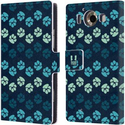 Pouzdro HEAD CASE Microsoft Lumia 950 / LUMIA 950 DUAL SIM Pejsek ťapky modrá barva