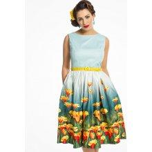 ac47c3cc7694 Lindy Bop dámské retro šaty Audrey Kvetoucí louka