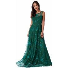 186c8d87c17 Dámské dlouhé společenské šaty zelená