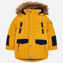 Mayoral chlapecká zimní bunda kožíšek na kapuci žlutá medová ccb8bf331ac