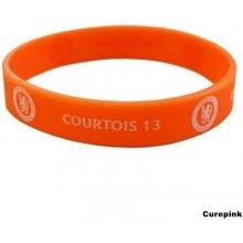 Silikonový náramek Chelsea FC: Courtois oranžový 321085 CurePink