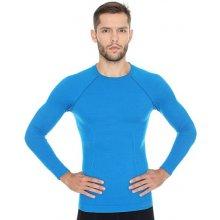 Brubeck Active Wool Mens Long Sleeve LS12820 Blue pánské triko dl.rukáv