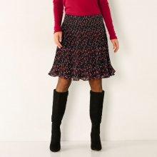 Blancheporte plisovaná sukně s potiskem černá 1a1479c8e8