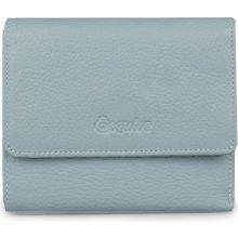 Esquire Dámská kožená peněženka světle modrá