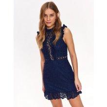 d6d014685531 Top Secret šaty dámské zdobené krajkou modrá