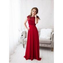 1a51d724a23 Eva   Lola společenské dlouhé šaty Savina červená
