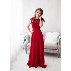 b80b0331bfd Eva   Lola společenské dlouhé Šaty Savina červená plesové šaty ...