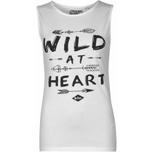 Lee Cooper Wild at Heart Graphic Tank White